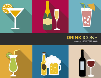 Colorful Drink Icons - vector #303703 gratis