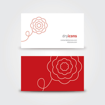 Minimal Floral Business Card - vector gratuit #303733