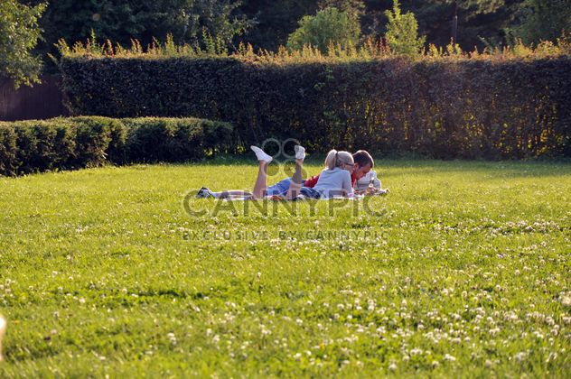 Couple in love outdoors - Free image #303793