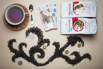 Dry tea, money and cup of tea - бесплатный image #303943