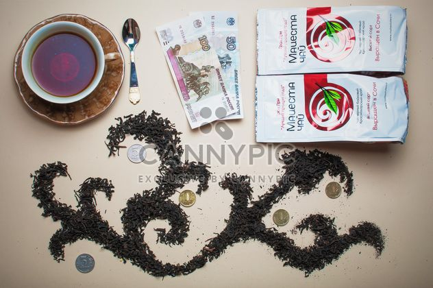 Dry tea, money and cup of tea - Free image #303943