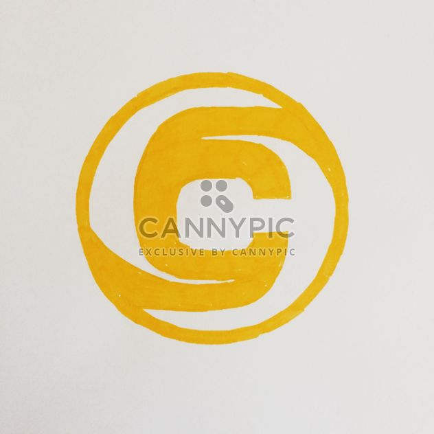 Yellow drawing of Clashot logo - Free image #304073