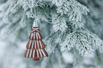 christmas toy karlkid on the frosted fir tree - бесплатный image #304083