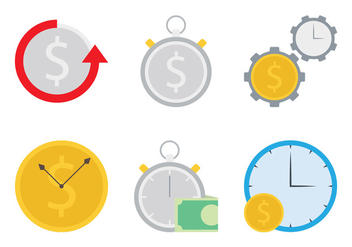 Time Is Money Icon - vector gratuit #304153
