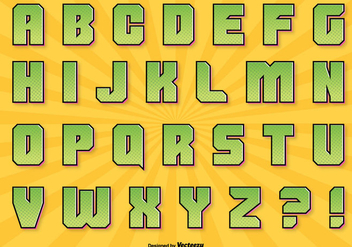 Comic Style Alphabet Set - Free vector #304203