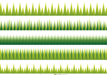 Green Grass Pattern - vector gratuit #304213