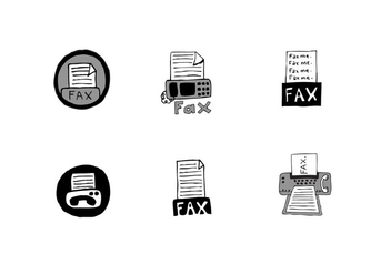 Free Fax Icon Vector Series - Kostenloses vector #304293
