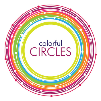 Colorful Circular Rings Background - vector gratuit(e) #304433