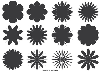 Assorted Flower Shape Set - Free vector #304793