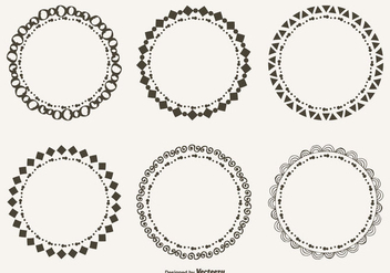 Cute Hand Drawn Style Doodle Frame Set - Free vector #304893