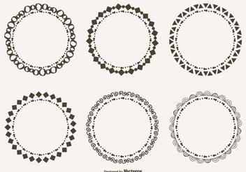 Cute Hand Drawn Style Doodle Frame Set - vector #304893 gratis