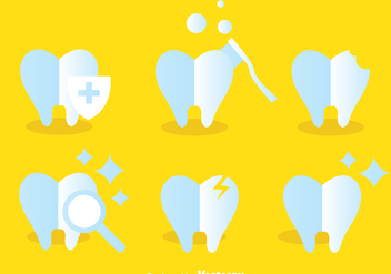 Teeth Care Icons - Free vector #304953