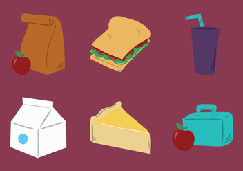 Free School Lunch Vector Illustration - Free vector #304993