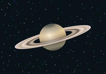 Free Saturn Planet Vector - Kostenloses vector #305163