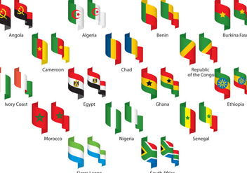 Africa Ribbons - Free vector #305173
