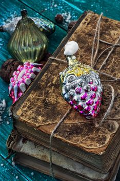 Christmas decorations and old books - Free image #305353
