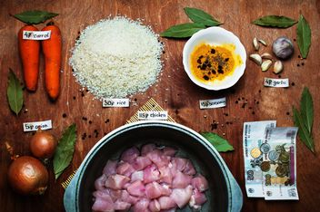 Ingredients for pilaf with chicken - Free image #305393