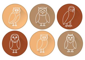 Barn Owl Icon Vector - Kostenloses vector #305443