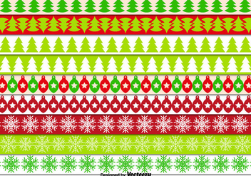 Decorative christmas borders - Free vector #305513