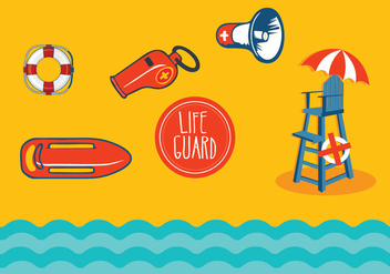 Lifeguard stand vectors - vector gratuit #305603