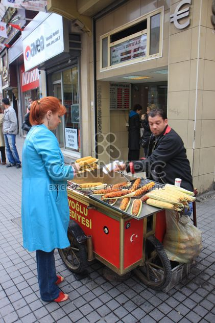 Russian Tourist buying corn - Free image #305743