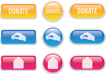 Donate Button - vector gratuit #305823