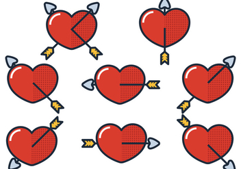 Arrow Through Heart - vector gratuit #305833