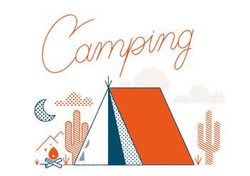 Free Camping Vector - Kostenloses vector #305883