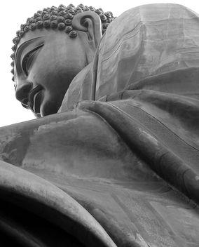 Tian Tan Buddha - B/W - Free image #307553
