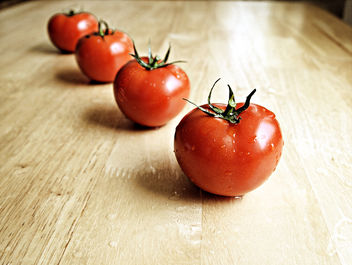 Healthy Red Tomatoes are Wet and Organic - Free image #309313