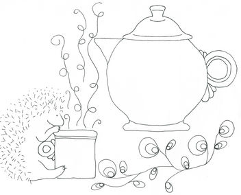 Fiesta Teapot and Hedgehog - Kostenloses image #310103