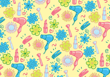 Cute Girly Pattern Vector - Free vector #317443