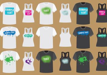 Grunge Shirts - Free vector #317463