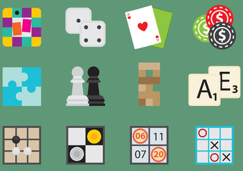 Board Games Icons - Free vector #317493