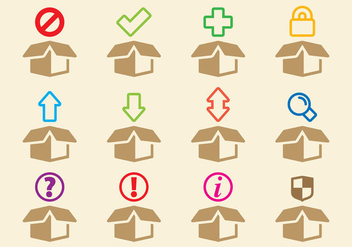 Boxes Icons - vector gratuit(e) #317603