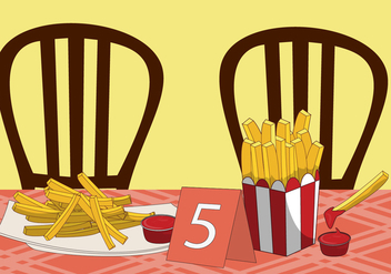 French Fries Vector - Free vector #317713