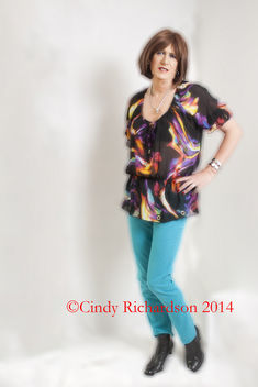 loose fitting blouse and skinny jeans (IMG_7264C) - Free image #321473
