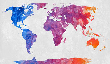 World Map - Abstract Acrylic - Kostenloses image #323853