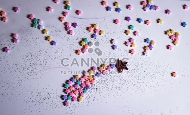 colorful stars on white background - Free image #326553