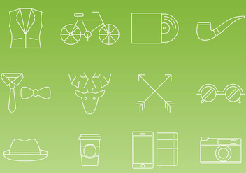 Hipster Thin Line Icon Vectors - Free vector #326593