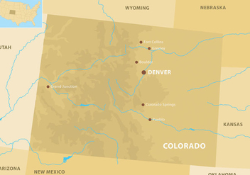 Colorado Mountains Map - Free vector #326603