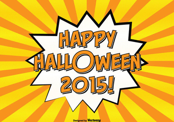 Comic Style Happy Halloween Illustration - Free vector #326613