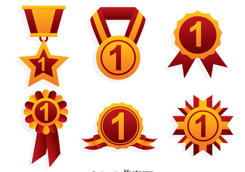 First Place Ribbon Icons - бесплатный vector #326653