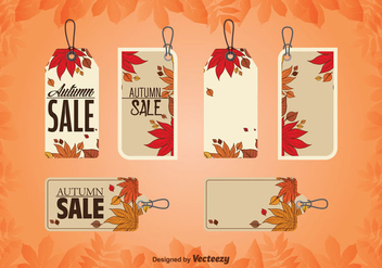 Autumnal Price Tags - vector gratuit #326663