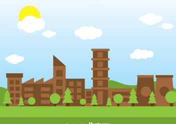 Green Factory - vector gratuit #326703
