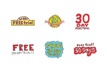 Free 30 Day Free Trial Vector Series - Free vector #326793