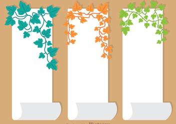 Ivy Vine On paper Vector - Free vector #326803