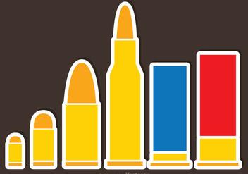Bullets Flat Vectors - vector gratuit #326813