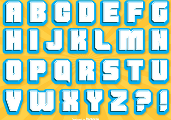 Comic Style Alphabet Set - Free vector #327013