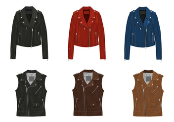 Leather jacket vectors - Kostenloses vector #327023